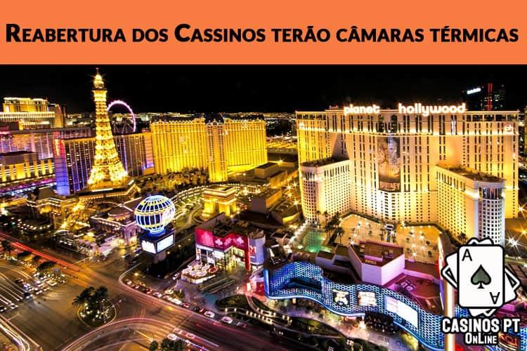 Casinos dos EUA preparam reabertura com câmaras térmicas e janelas de atendimento