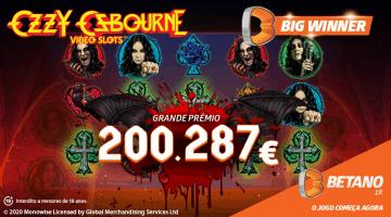 Jogador ganhou mais de 200 mil euros numa slot do Casino Betano