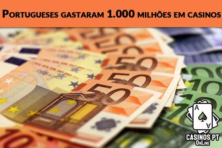 Portugueses quase nos mil milhões em casinos online