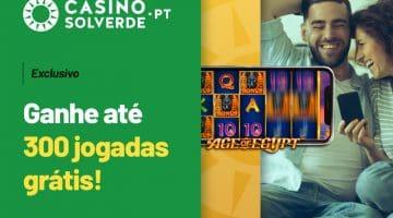 Grande Promoção no Casino Solverde - Até 300 Jogadas Grátis