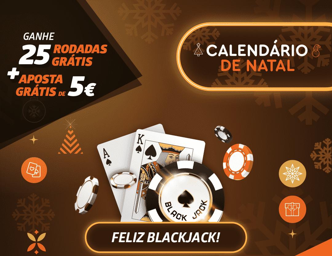 Calendário de Natal Blackjack com 25 Rodadas Grátis